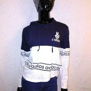 Adios NOT Adidas Cotton T-shirt hoodie Sz M